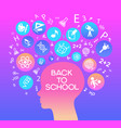 child head education vector image