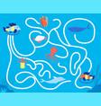 children maze game kindergarten leisure fun vector image
