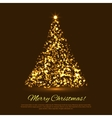 christmas tree from light background vector image vector image