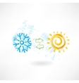 Climate control grunge icon vector image vector image