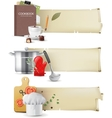 cooking banners vector image vector image