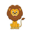 cute cartoon lion kids vector image vector image