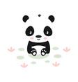 cute panda on white background animals vector image