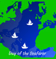 day of the seafarer 25 june outlines of the vector image