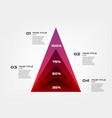 diagram concentrate pyramid elements gradient vector image vector image