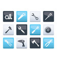 different kind of tools icons over vector image vector image