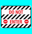 do not enter floor sign eps10 vector image vector image