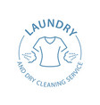 dry cleaning service emblem laundry self-service vector image vector image