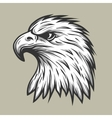 Eagle head in profile vector image vector image