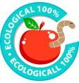 ecologically pure product vector image