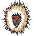 eskimo head logo mascot vector image vector image