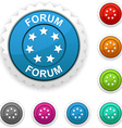 Forum award vector image vector image