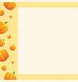frame of thanksgiving style collection vector image vector image