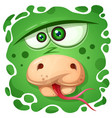 funny cute crazy snake character vector image vector image