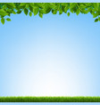 green grass and leaves border vector image vector image