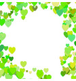 green random heart background design - love vector image vector image