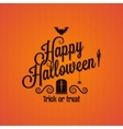 halloween vintage lettering ornate background vector image vector image