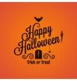 halloween vintage lettering ornate background vector image