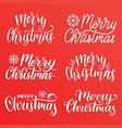 handwritten merry christmas calligraphy set vector image vector image
