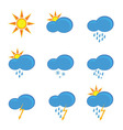 icons for weather forecast vector image
