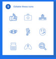 illness icons vector image vector image