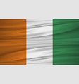 ivory coast flag flag of ivory coast blowig in vector image