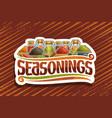 logo for indian seasonings vector image vector image