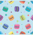 macaron seamless pattern vector image vector image