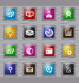 marketing glass icons set vector image vector image