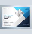 modern blue business brochure flyer template vector image