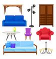 modern furniture collection interior design vector image