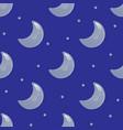 moon seamless pattern vector image