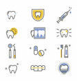 mouth and tooth health set vector image vector image