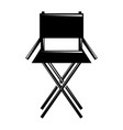 movie director chair equipment icon vector image vector image