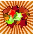 multicolored 3d stars vector image vector image