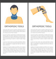 orthopedic tools posters vector image
