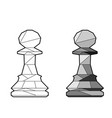 outline chess pawn vector image vector image