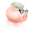 pension pig money box vector image vector image