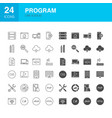 program line web glyph icons vector image vector image