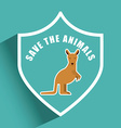 save the animals vector image vector image