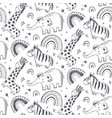 seamless pattern with hand drawn african vector image