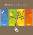 seasons in the tree cover vector image vector image