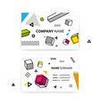 set of business cards pop art geometric vector image
