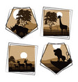 set of wild african animals vector image vector image