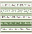 set ribbons abstract floral pattern vector image