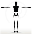 skeleton silhouette in default pose vector image vector image