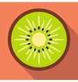 Sliced kiwi flat icon vector image vector image