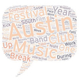 South By Southwest Festival In Austin text vector image vector image