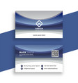 stylish blue wavy business card template vector image vector image