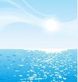 sunny blue sky ocean background vector image vector image